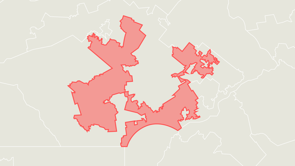 This Ridiculous GOP Gerrymander Could Give Democrats a ... on open primary map, war map, england map, holocaust map, india map, freedom map, ratification map, immigration map, global warming map, corruption map, iran map, terrorism map, south africa map, capitalism map, manifest destiny map, poverty map, united nations map, afghanistan map, power map, europe map,