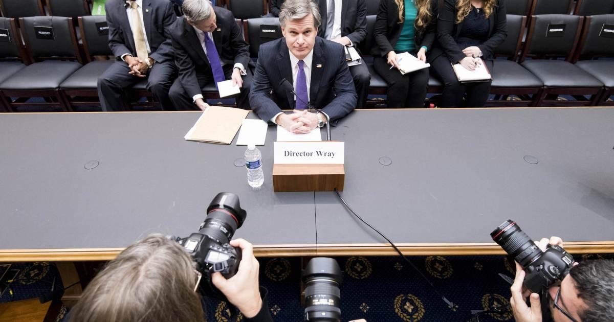 photo image FBI Chief Defends Bureau Against Trump's Attacks