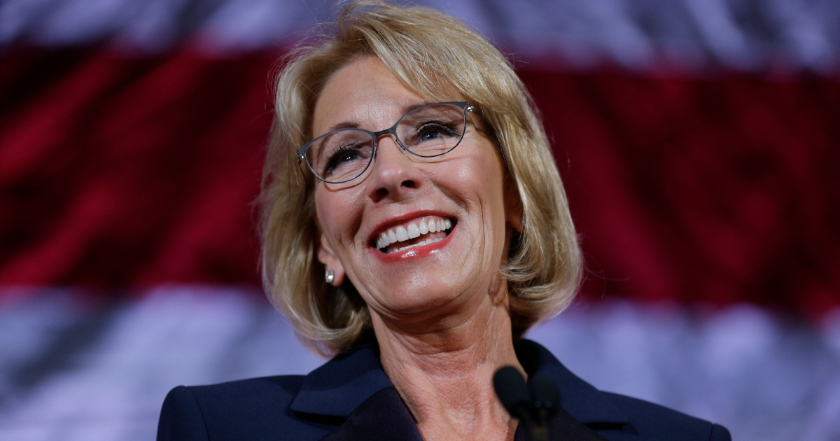 Betsy Devos Nomination Chilling >> Betsy Devos Is Being Sued For Rolling Back Campus Protections For