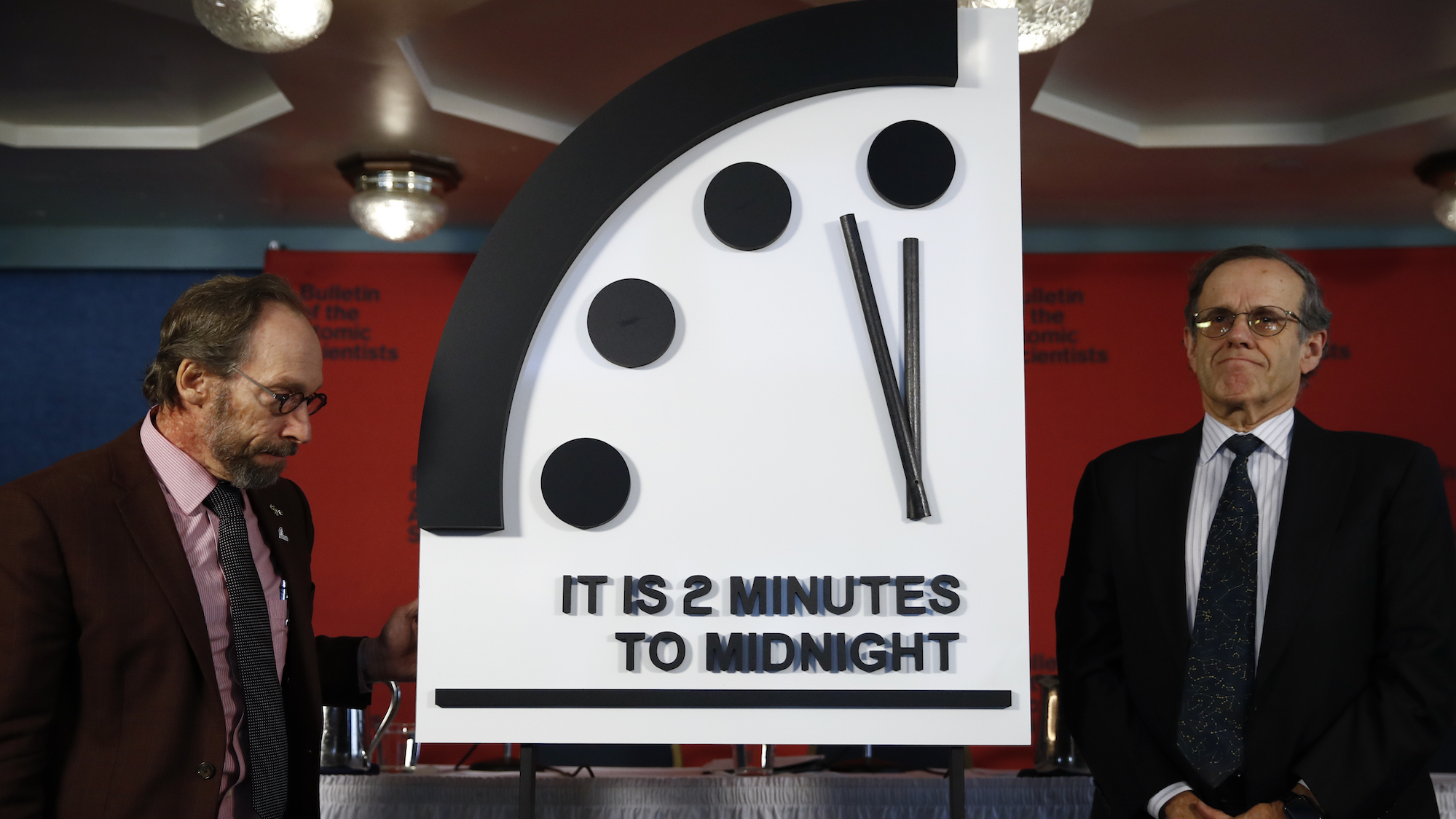 Doomsday Clock strikes 30 seconds nearer to midnight