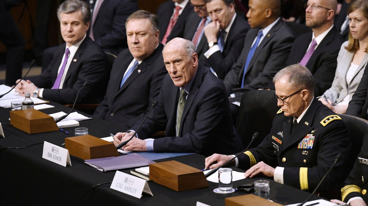 The nation's intelligence chiefs say Trump has not directed them to stop Russian election meddling