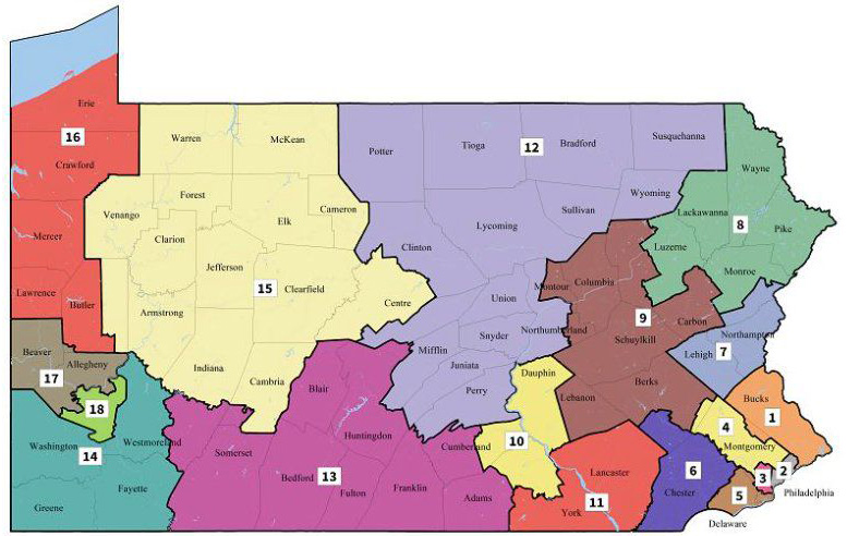 Pennsylvania Supreme Court releases new congressional map