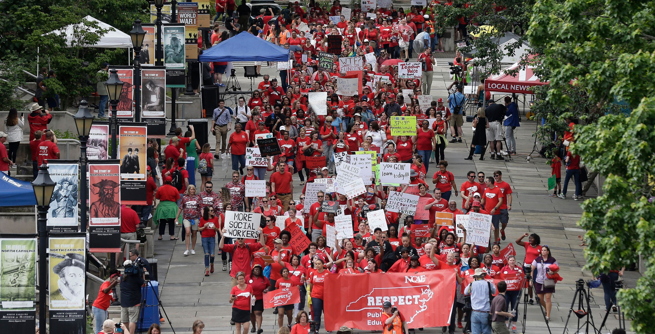 Teachers March in North Carolina: What to know, and why they're