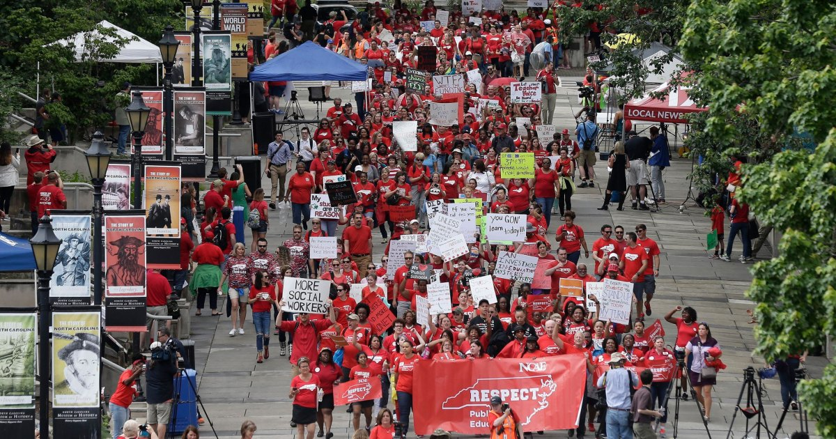 photo image North Carolina Teachers Are Taking to the Streets. Here's What They're Demanding.
