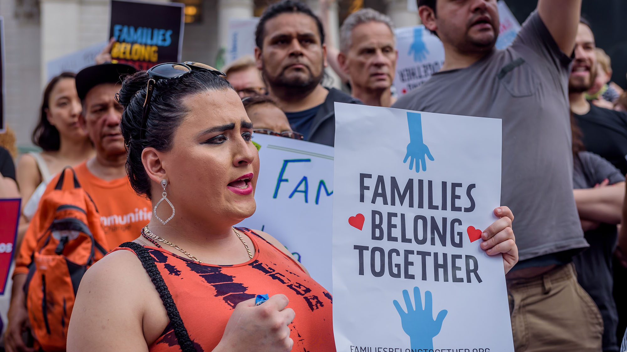 Protesters, lawmakers call for immigrant families to be reunited