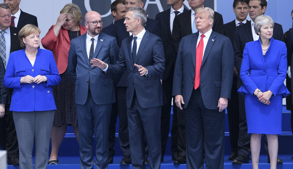 Image result for trump at nato