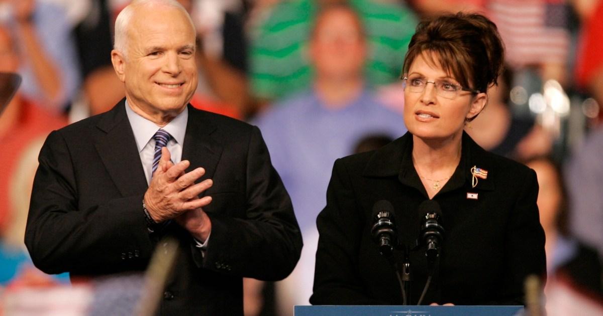 Sarah Palin says John McCain