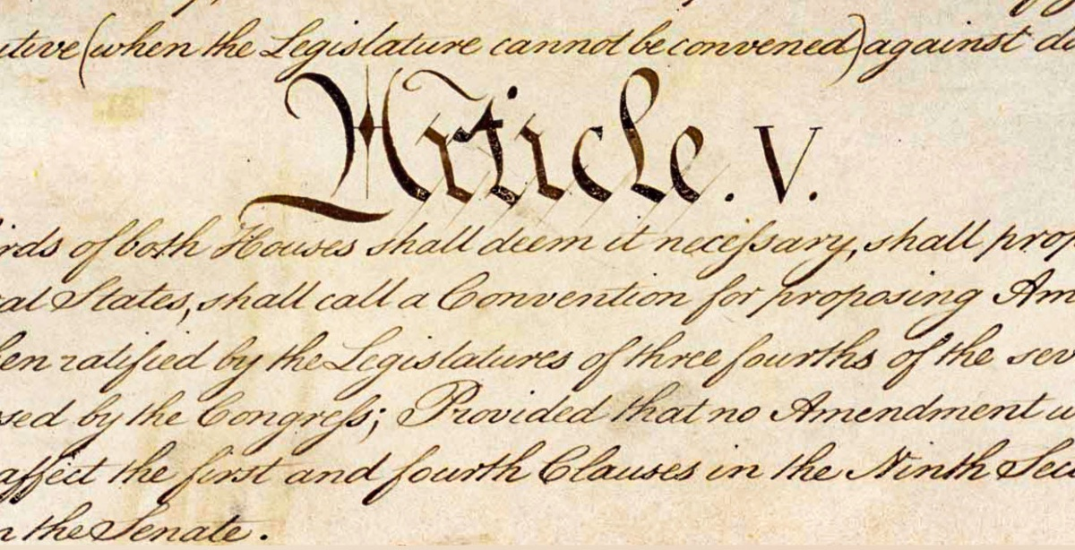 photo image Article V of the Constitution, Explained