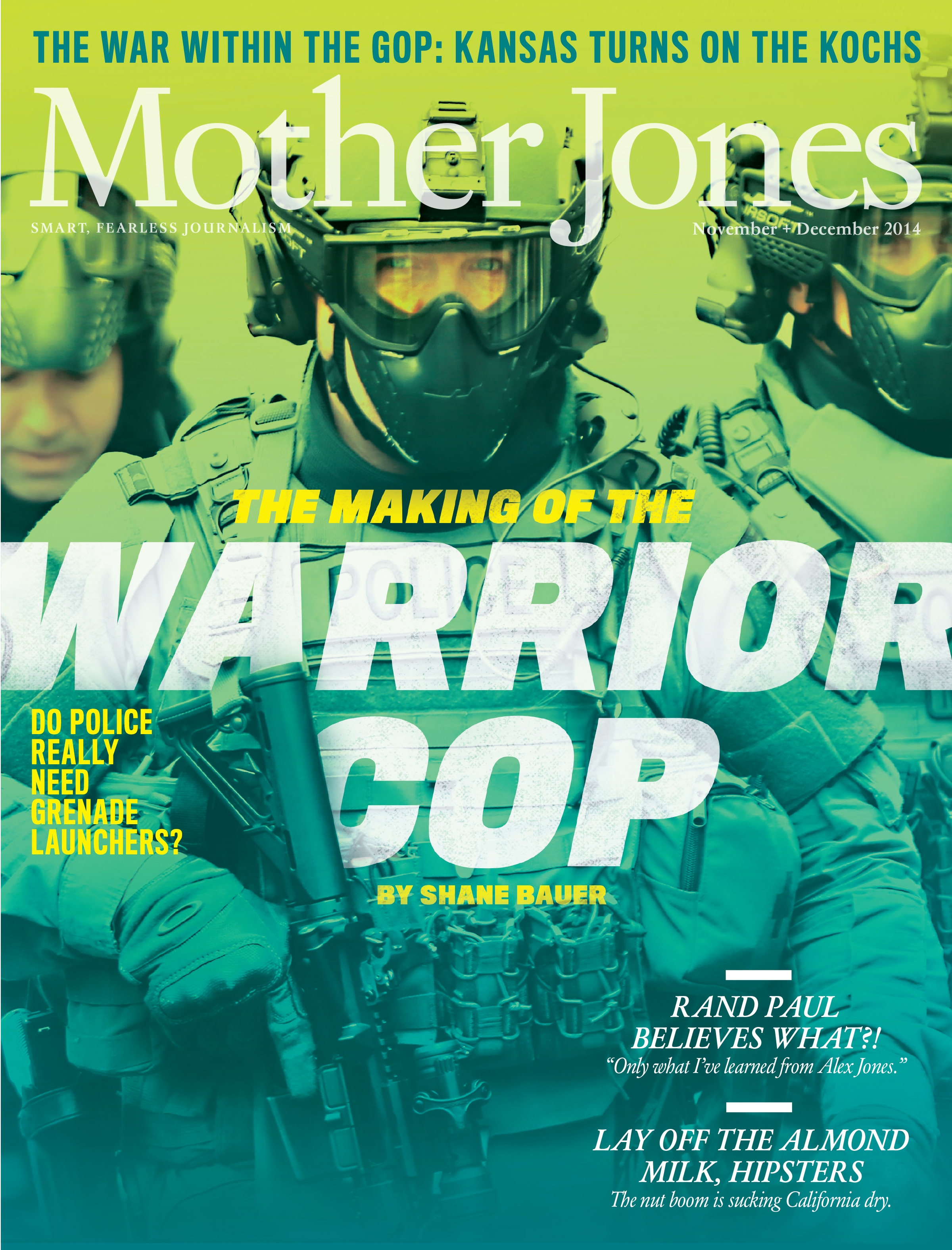Mother Jones Magazine Cover : November + December 2014