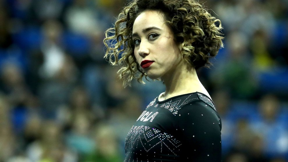 Can Get Over This Gymnast Magical Floor Routine Mother Jones
