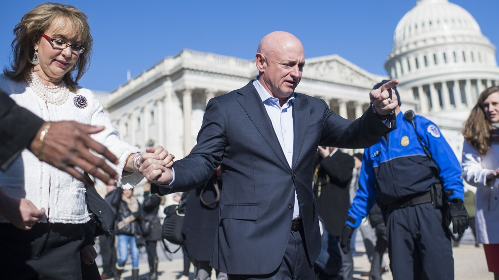 Mark Kelly Helped Turn Guns Into a National Issue. But ...