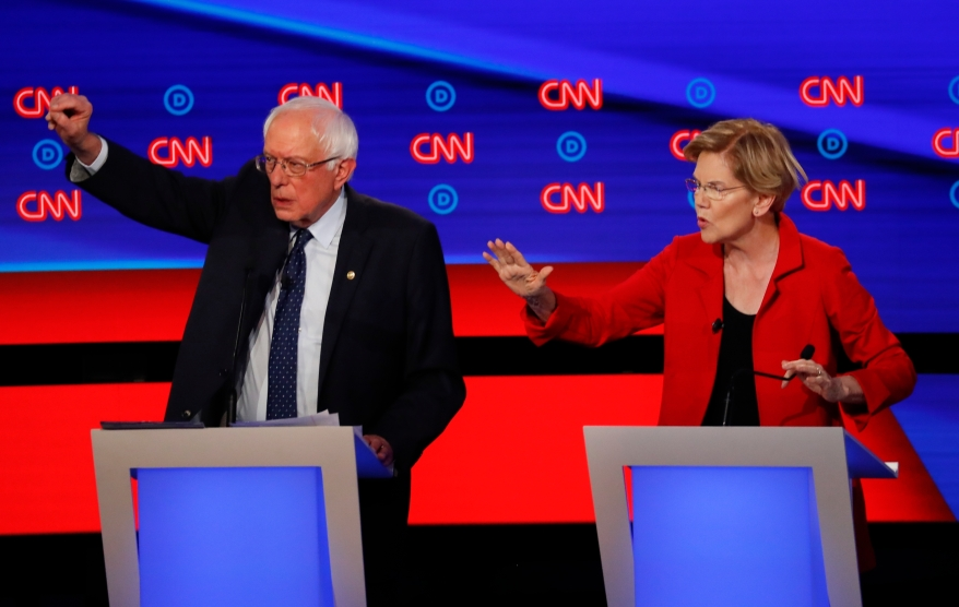 Democrats Are Spotlighting Big >> Elizabeth Warren Summed Up The Democratic Debate In 9 Seconds