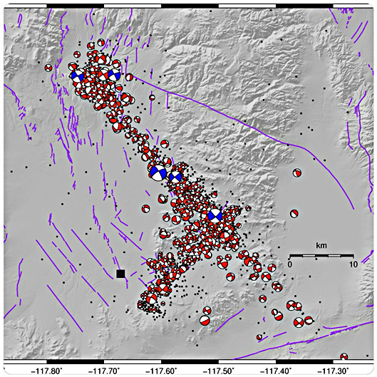 Map Of California Quake.California S Two Recent Earthquakes Erupted On Unknown Fault Lines