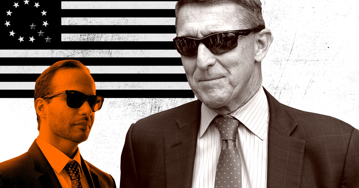Michael Flynn and George Papadopoulos are scheduled to speak at a conference organized by a QAnon supporter