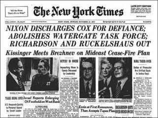 """He Was on the Ropes"": Richard Nixon's Saturday Night Massacre Was 46 Years Ago"