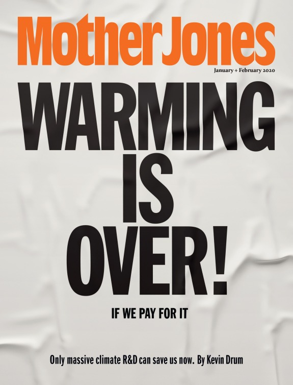 Mother Jones Magazine Cover : January + February 2020