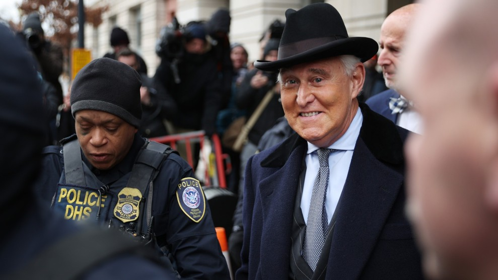 Donald Trump Frees Roger Stone…and Pardons Himself – Mother Jones