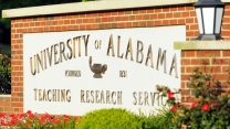 University of Alabama welcome sign