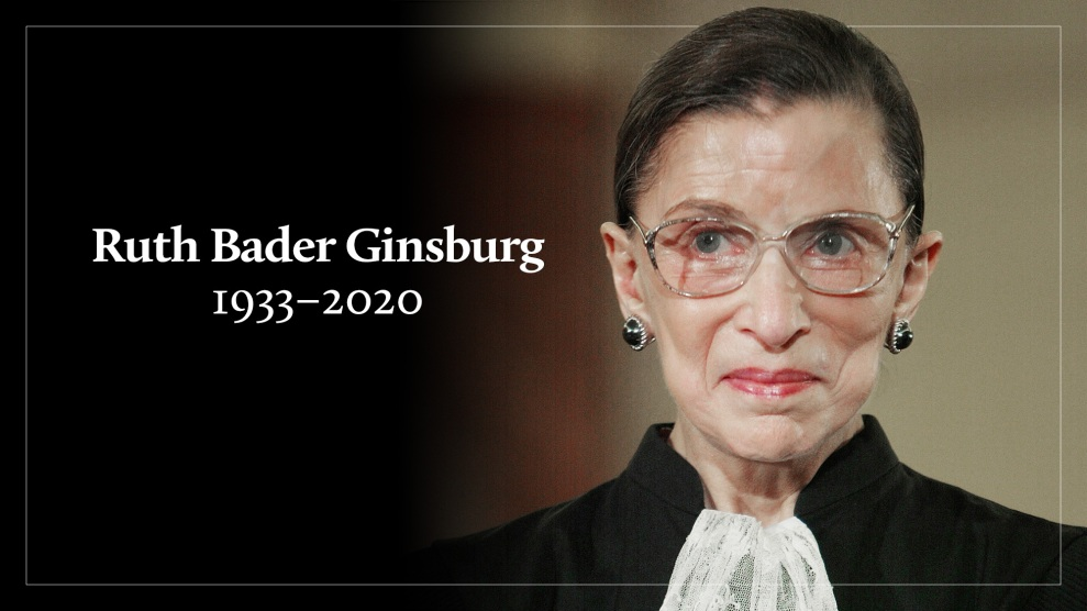 Supreme Court Justice Ruth Bader Ginsburg Has Died – Mother Jones