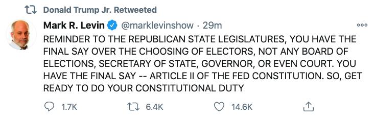Mark Levin bad tweet