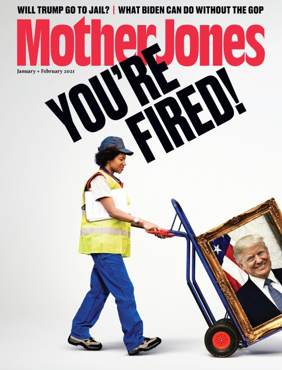 Mother Jones Magazine Cover : January + February 2021