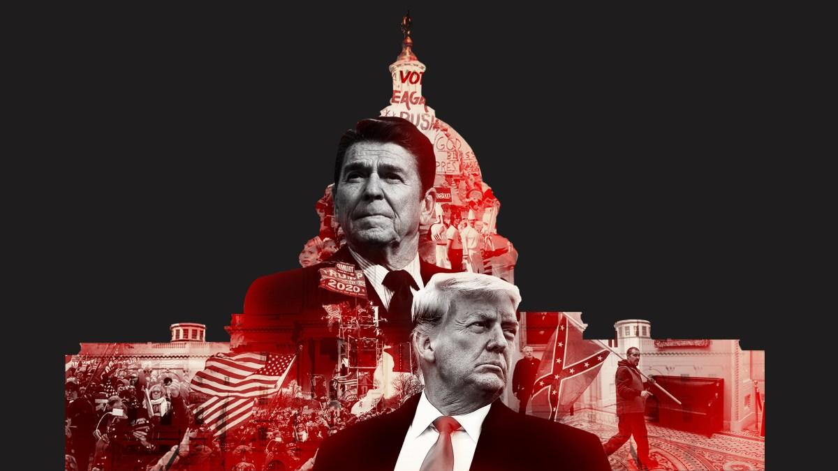 Make America Great Reagan Trump Medal Gift Box Set