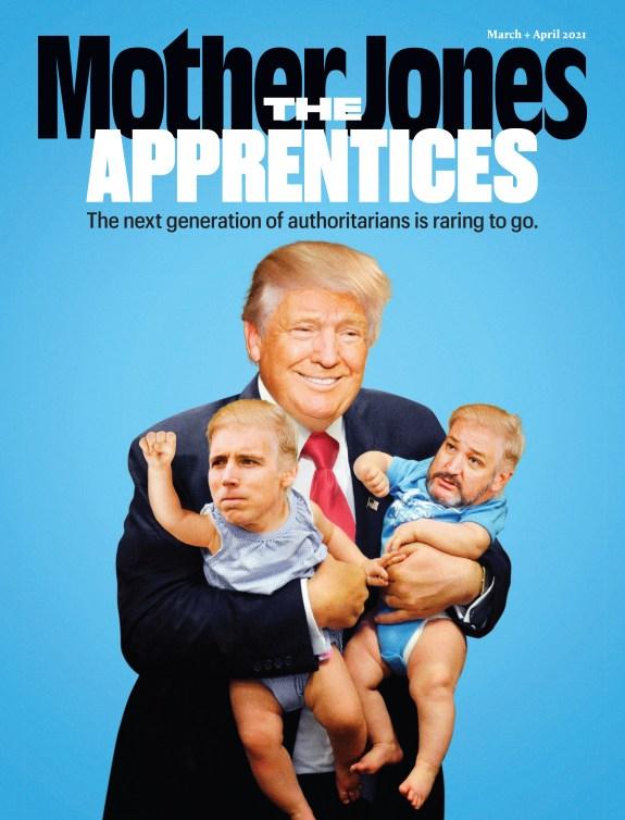 Mother Jones Magazine Cover : March + April 2020