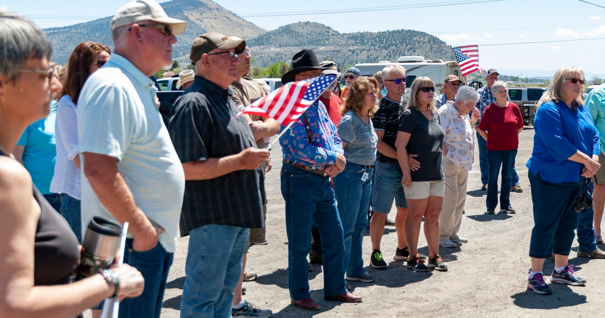 A far-right group is rallying farmers in drought-stricken Oregon. Things are getting weird.