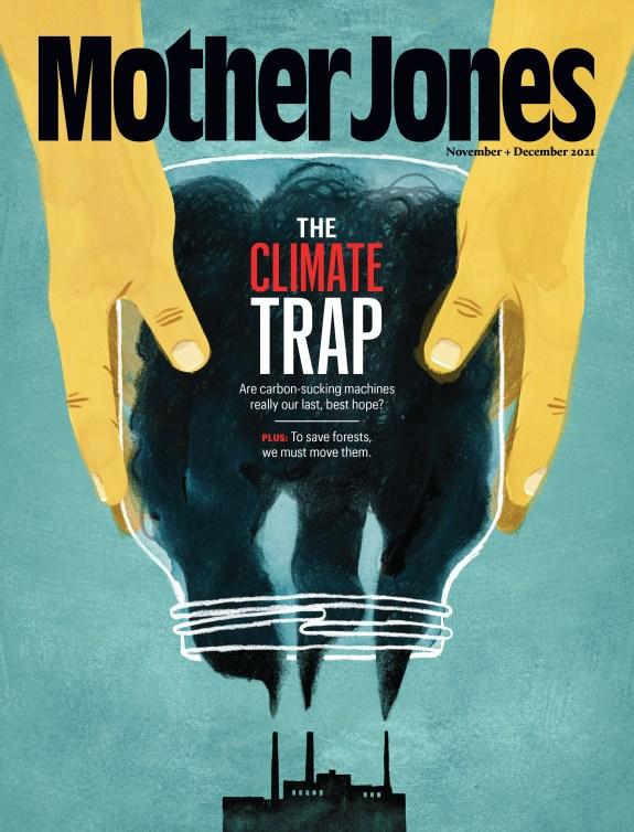 Mother Jones Magazine Cover : November + December 2021