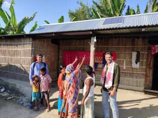 Cool Effect dedicates this article to the memory of Sid Yadav (right), Cool Effect Director Of Project Research, seen here conducting a site visit on a remote off grid island in India. Sid oversaw the rigorous vetting and selection process for all carbon reduction projects supported on Cool Effect's platform since its inception. He also monitored ongoing project activities and made on-site project evaluations. In addition to bringing lengthy carbon verification expertise, Sid was passionate about creating a better life and future for those communities around the world who need it most.
