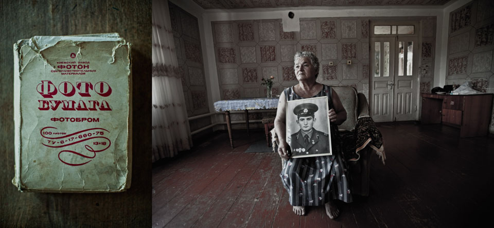 Abkhazia. Avedyan Maria Miranovna lost her son as well, left only with photos to remember him.