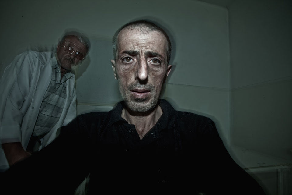 In 2010, Mirzoyan gave cameras to former soldiers residing in the Karabakh mental institution who had suffered mental breakdowns during or after the war. His objective was, through portraits taken by themselves, to show the isolation, confusion, anger, and fear still present in their faces.