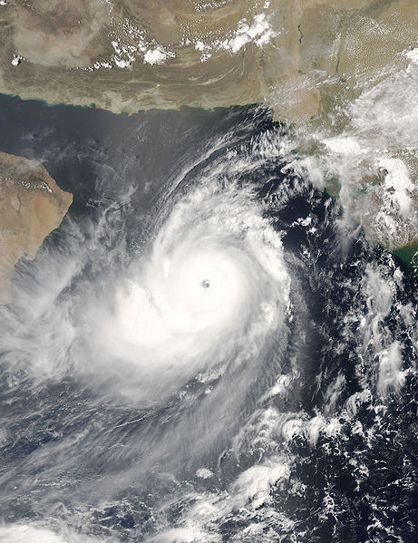 Category 5 cyclone Gonu in the Arabian Sea in 2007.