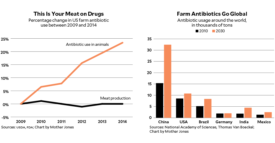 Diet antibiotics in meat and human health andlaying hens raised