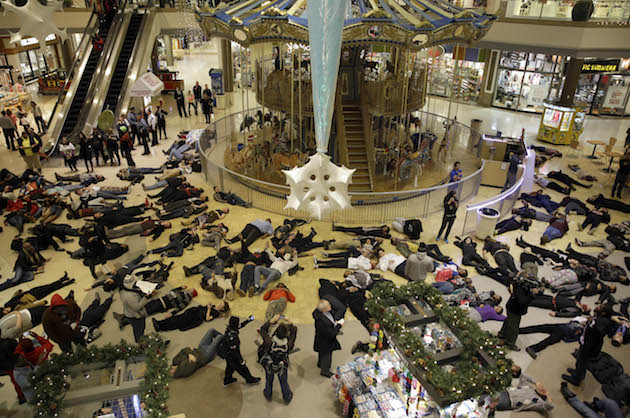 Ferguson protest at Chesterfield Mall, Missouri