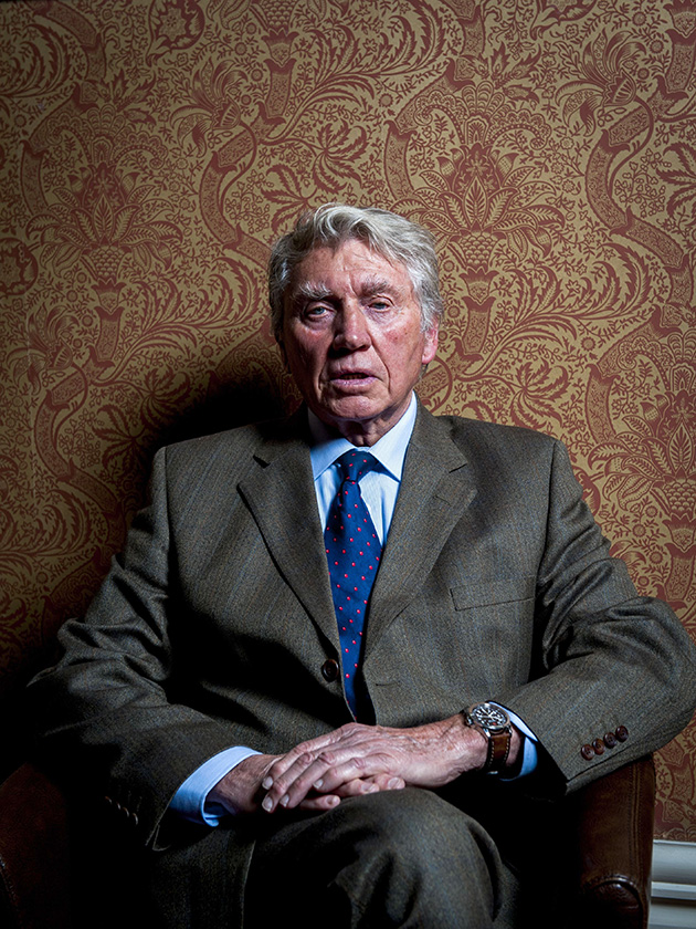 Don McCullin sitting for a portrait