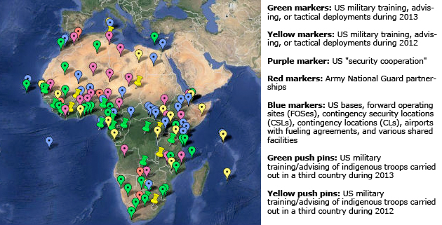 The Startling Size Of US Military Operations In Africa Mother Jones - Map from us to african