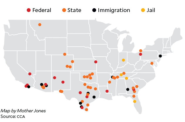 The Corrections Corporation of America by the Numbers Mother Jones