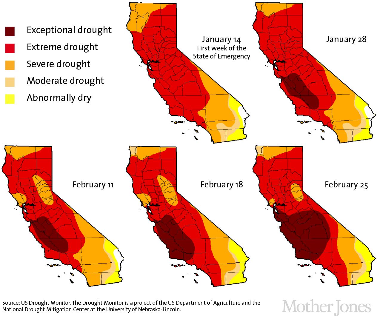 Us Drought Map California Change fidorme
