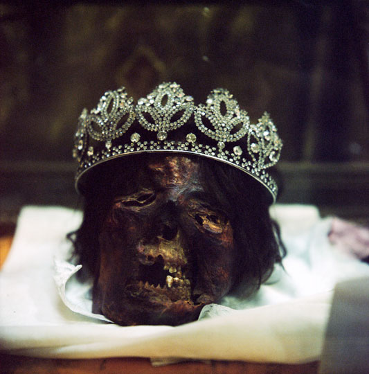 Skull of a Coptic woman, one of the Great Martyrs of Akhmeem.