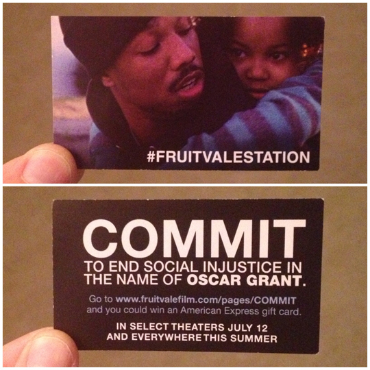 Fruitvale Station card