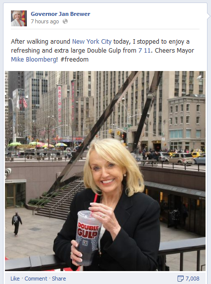 Cheers To Governor Brewer >> Rick Perry, Please Stop Talking About Big Gulps – Mother Jones