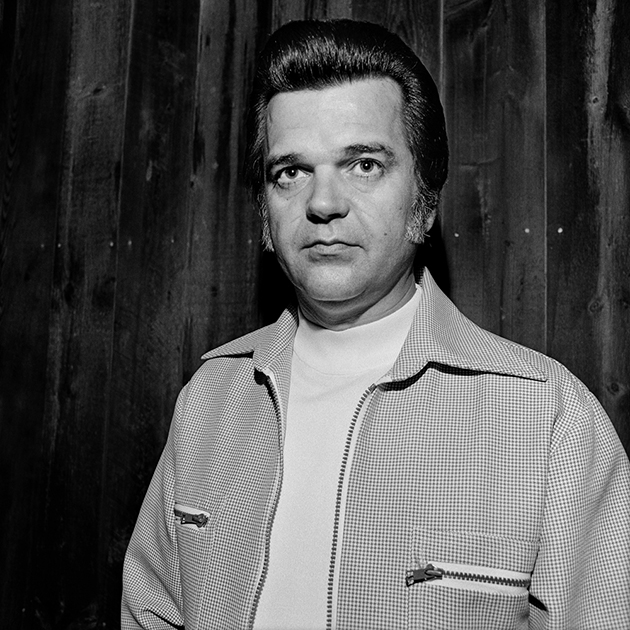 Conway Twitty backstage, Annapolis, Maryland, 1975