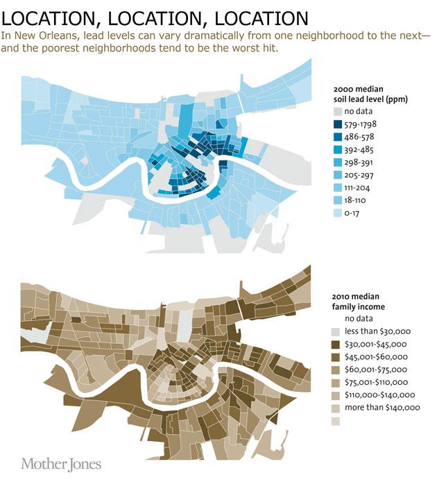 Lead Americas Real Criminal Element Mother Jones - Us Cities Crime Data Maps