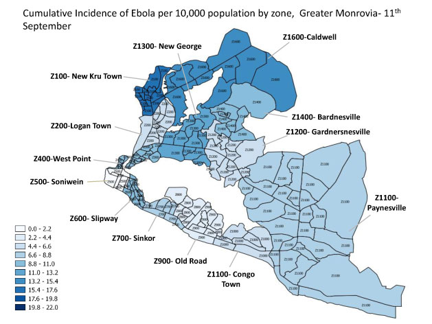 These Maps Show How Ebola Spread In Liberia – Mother Jones on monrovia lithuania map, ouagadougou burkina faso map, nairobi kenya map, uganda world map, encarnacion paraguay on a map, accra ghana map, africa map, tripoli libya map, monrovia united states map, abidjan ivory coast map, legon ghana map, malabo equatorial guinea map, maputo mozambique map, monrovia ca, riyadh saudi arabia map, ebola outbreak 2014 map, libreville gabon map, lagos nigeria map, monrovia beach,