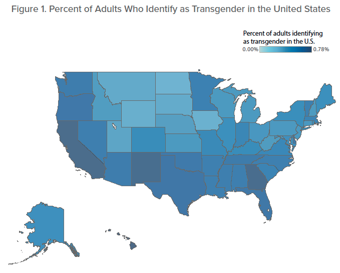 How many transgender in united states-6158