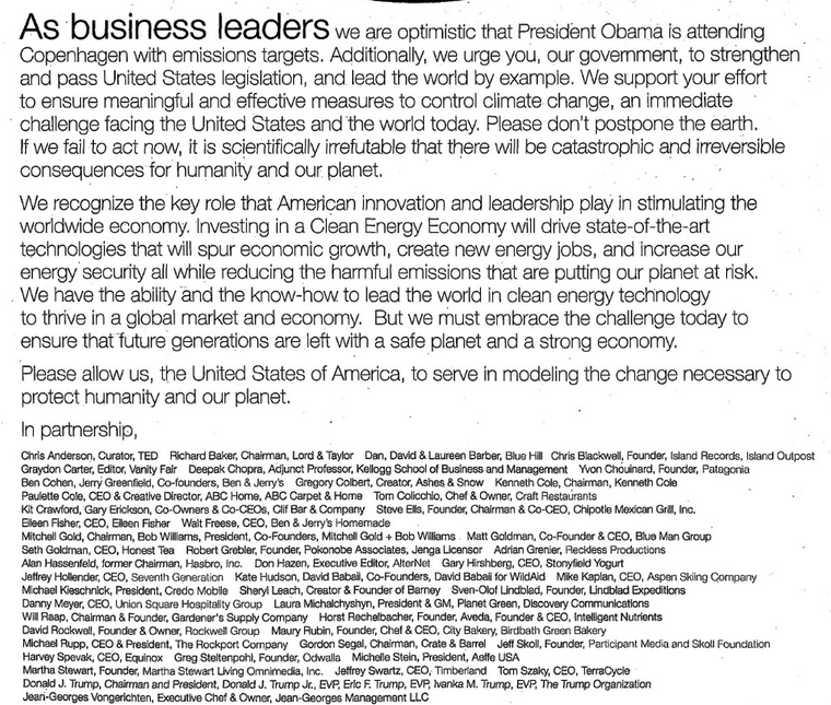 every insane thing donald trump has said about global warming letter