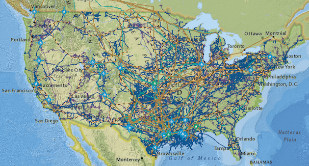 a map of all current us oil and gas pipelines and market hubs us energy information administration