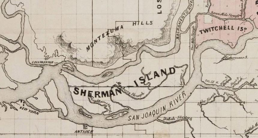 Sherman Island Historical Map