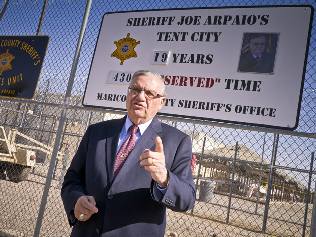 Sheriff Joe Arapaio in front of Tent City.  sc 1 st  Mother Jones & Americau0027s 10 Worst Prisons: Tent City u2013 Mother Jones